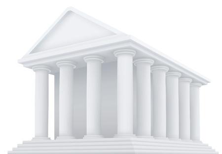 Alta detallada ilustración 3d de un edificio antiguo Vectores