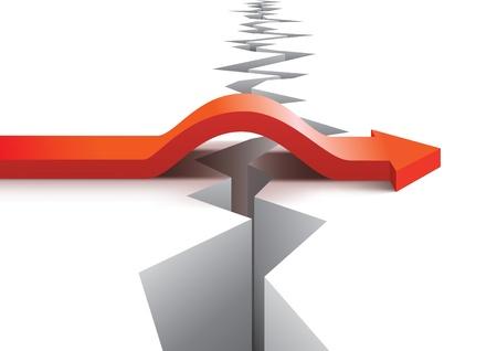 Concepto de riesgo y el éxito Vectores