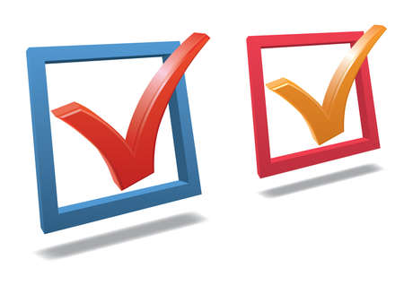 Check box with check mark high detailed 3d   Vector