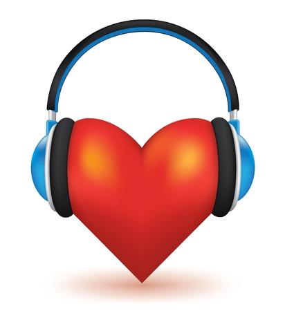 audifonos: Me encanta el concepto de vector de m�sica alta 3d detallada