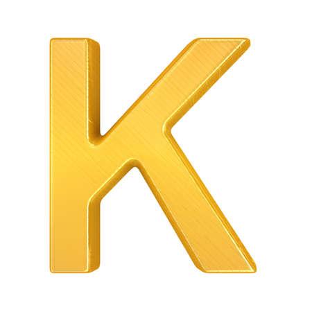 Golden Letter K photo