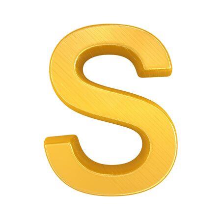 Golden Letter S photo