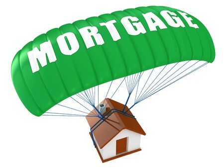 Mortgage concept isolated on white
