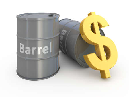 Barrel price 3d concept illustration Stock Illustration - 9456324
