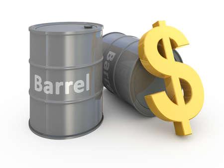 Barrel price 3d concept illustration Stock Illustration - 9456324