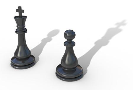 Leadership concept 3d illustration isolated on white Stock Illustration - 9456321