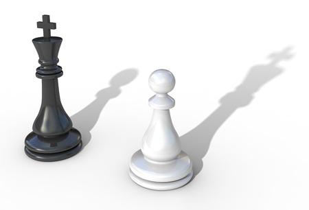 Leadership concept 3d illustration isolated on white Stock Illustration - 9456318