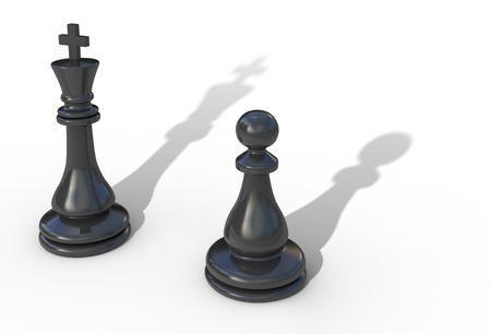 Leadership concept 3d illustration isolated on white Stock Illustration - 9456320