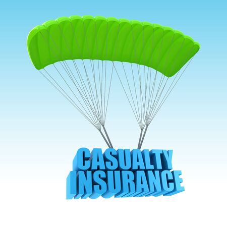 casualty: Casualty Insurance 3d concept illustration