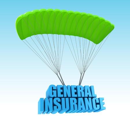 general insurance: General Insurance 3d concept illustration