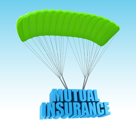 mutual: Mutual Insurance 3d concept illustration