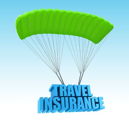 Travel Insurance 3d concept illustration illustration