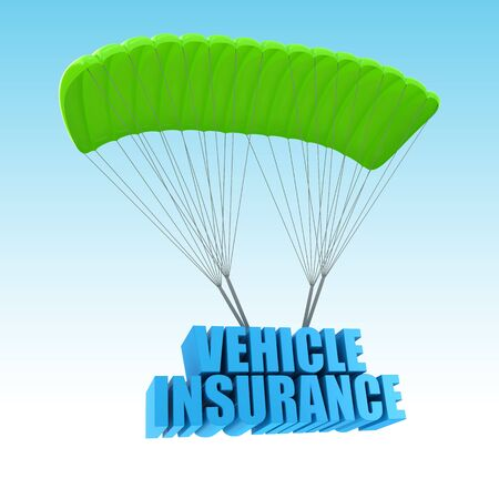 auto insurance: Vehicle Insurance 3d concept illustration