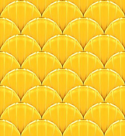 squamous: Golden fish squamous decoration. Seamless scale texture