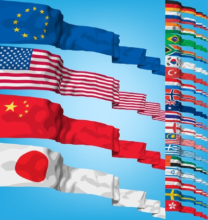 Set of world flags.  Vectores