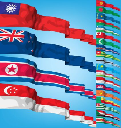 Set of world flags.  Editorial