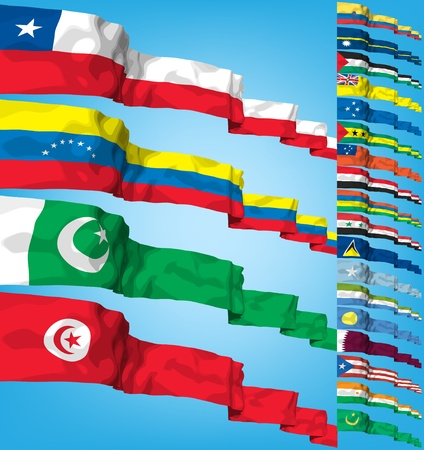 Set of world flags.  Vector