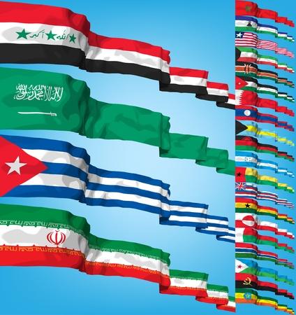 flags world: Conjunto de indicadores del mundo.