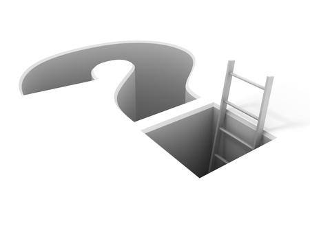 problema: Una escalera desde el problema Foto de archivo
