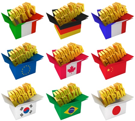 Producing countries Stock Photo - 9968043