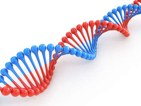 DNA code 3d concept isolated on white photo