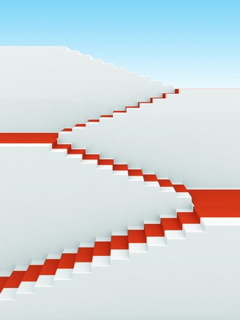 upstairs: Upstairs growth. Success 3d concept background
