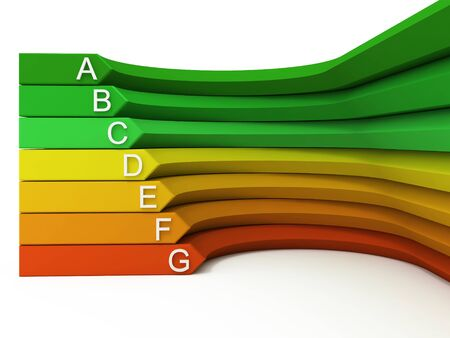 Concepto 3d de eficiencia de energía