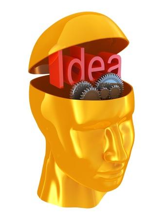 Man with idea Stock Photo - 10453557