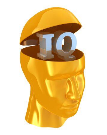 scientist man: IQ intelligence quotient