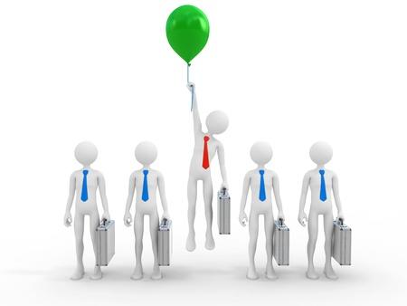 Leader Businessman Career Promotion Foto de archivo