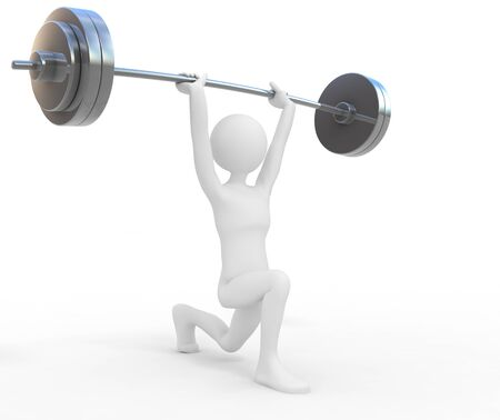 heavy weight: Powerful weightlifter