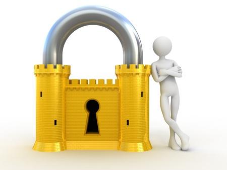 tecla enter: Sistema de seguridad confiable Foto de archivo