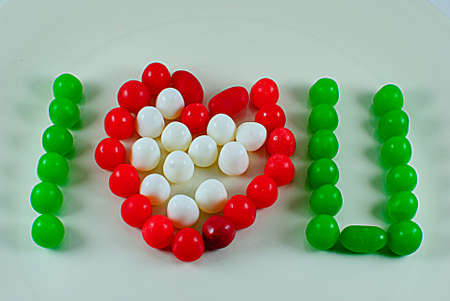 I love you made with candy Фото со стока - 25521037
