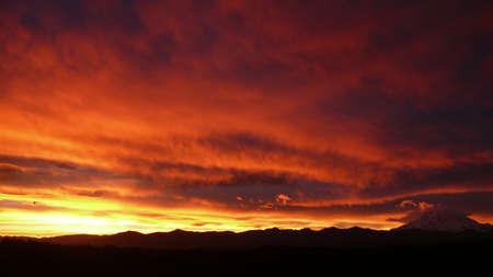 mt rainier: Sunrise over Mt. Rainier