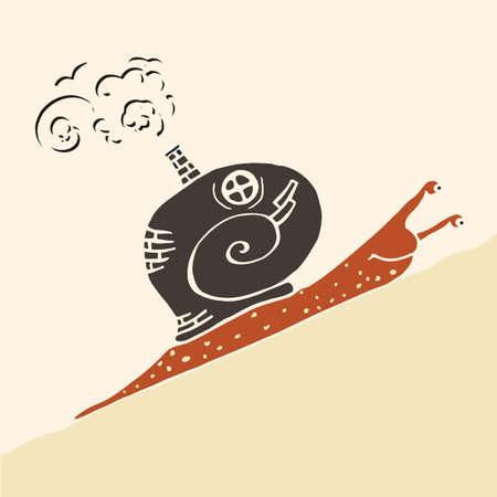 land shell: Steam punk snail