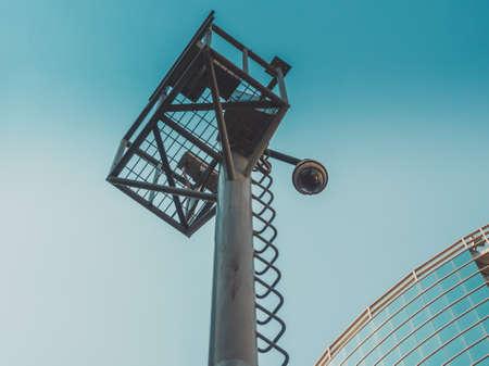 cctv security: Video surveillance system in big city CCTV security camera