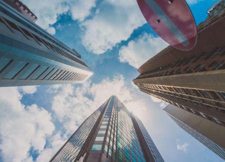 Bouw van de Wolkenkrabber en Sky Scene Bekijk in Big City