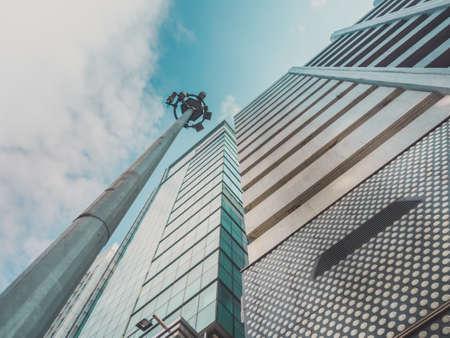 big city: Skyscraper Buildings and Sky View in Big City