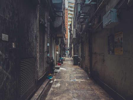 Wandelen via Verborgen Poort in Hong Kong Straat