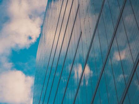 Wolkenkrabbergebouwen en Sky View in Big City