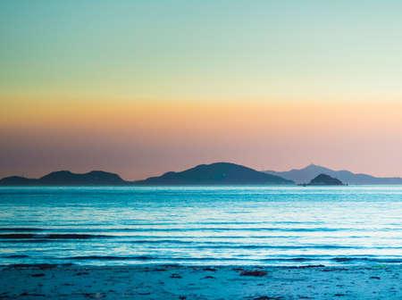 Pui O Beach in Hong Kong. Stockfoto