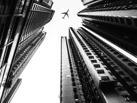 Modern City Architecture in Black and White