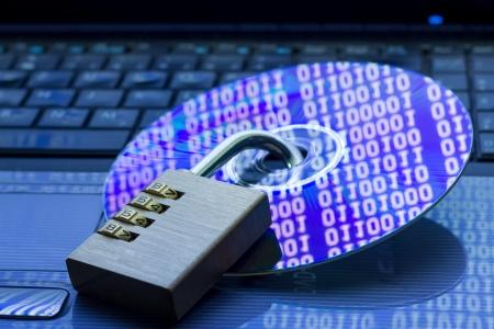 protegido: Seguridad de los datos Foto de archivo