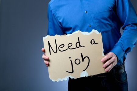 unemployment rate: Job hunting Stock Photo