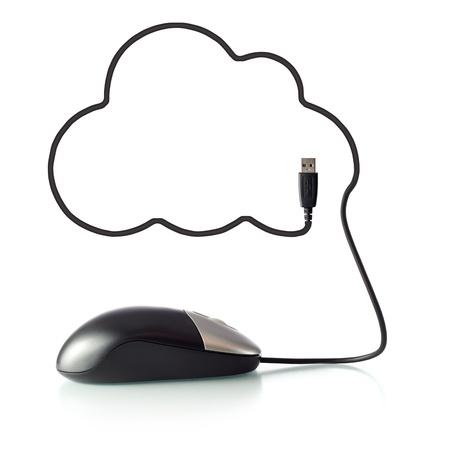usb cable: Cloud Computing Stock Photo