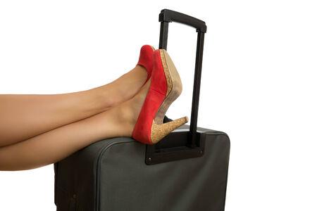 Feet on case