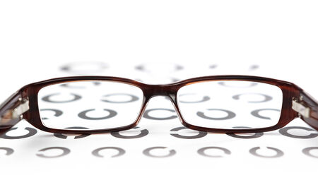 diopter: Glasses on eye test