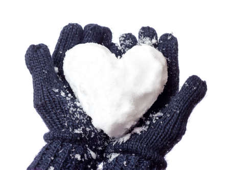 Lady gloves & snow heart