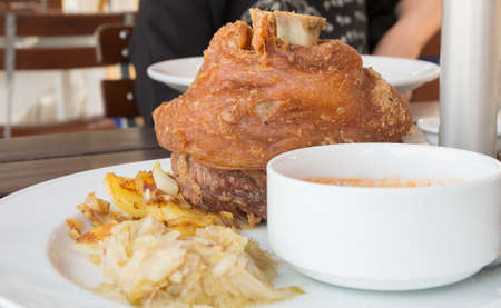 knuckle: roasted pork knuckle