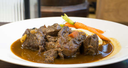 irish easter: Beef Stew with red vine, carrots and potatoes